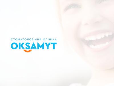 OKSAMYT friendly logo branding minimal clinics logodesign support smile teeth care dental clinic dental logo modern logo logo