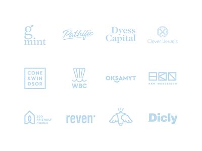 Logos and Marks style vector typography minimal concept branding brand catchy logos marks logodesign logotype logo set