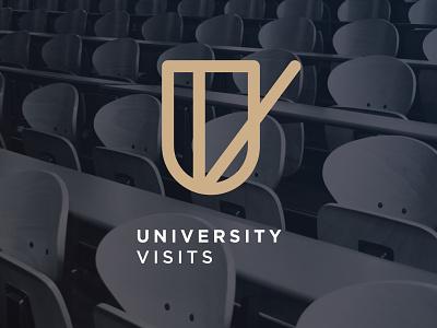University Visits Ident ident icon university monogram logo geometry branding brand minimal