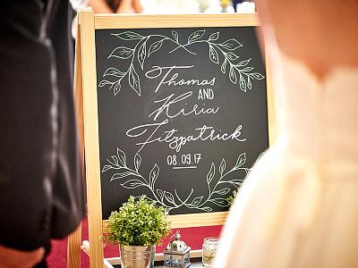 Wedding Chalkboard Dribbble lettering chalkboard posca chalk marker typography hand lettering wedding