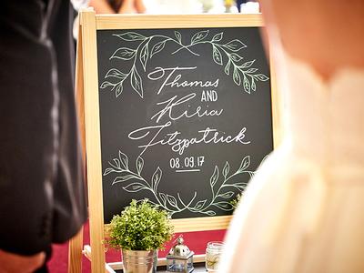 Wedding Chalkboard Dribbble
