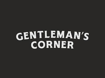 Solo type logo for Gentleman's Corner Barbershop. typography scissors unused concept logo branding barber shop barber