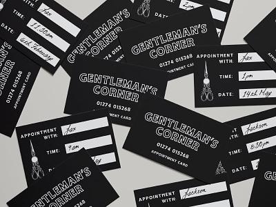 Appointment Cards logo identity typography vintage branding scissors gents hairdresser barber business barbershop appointment cards