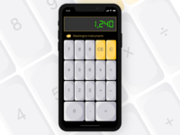 Vintage Mobile Calculator