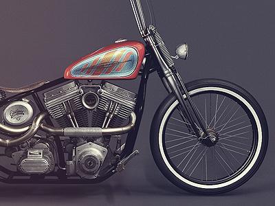 Kustom Bobber / Harley Davidson 3d cinema4d harley motorcycle vintage kustom custom