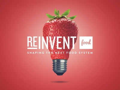 Reinvent Food web logo onepage brand identity startup photoshop ux ui
