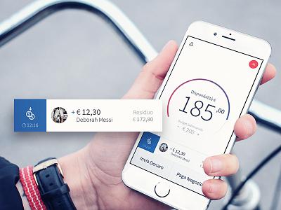 Satispay iOS App app design money transfer money iphone iphone 6s banking mobile app ios