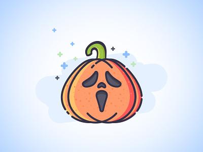 Scream Pumpkin  spooky yebo bad scream illustration icon design pumpkin halloween