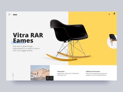Nüst Furniture Theme graphic visual interaction principle smooth modern furniture transition animation ui ecommerce