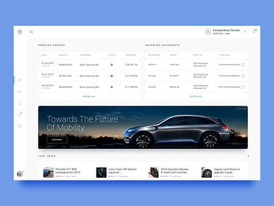 Minium   Select Account dashboard menu account automotive b2b design app ecommerce ux ui