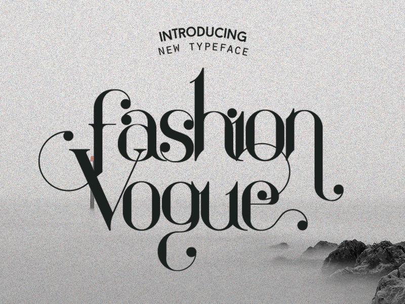fashion vogue whit typography type panakota fashion logo head gray font typeface editorial