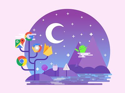 Google Land  google apps google developer groupe starts land chrome mountains android gdg google