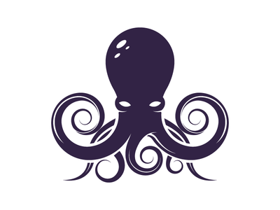 Octopus tentacles brand visual identity logo animal squid vector octopus