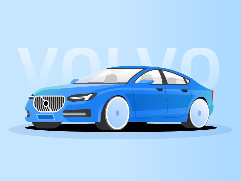 Volvo S60 sweden 沃尔沃 volvo mac car china design illustration ui