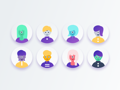 kalo-alien avatars freelancer aliens icon ui app vector design branding illustration