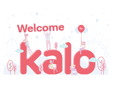 Welcome To Kalo branding icon illustration