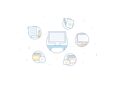 Projects & Tasks illustration icon