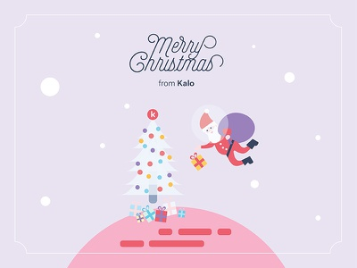 Merry Christmas from Kalo illustration card christmas