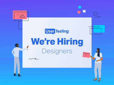 UserTesting is Hiring! career hire usertesting design job designer communication design communication designer recruit job hiring