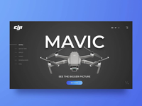 Mavic 2 concept landing page