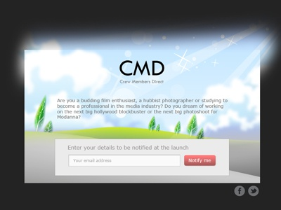 CMD Signup page signup social community