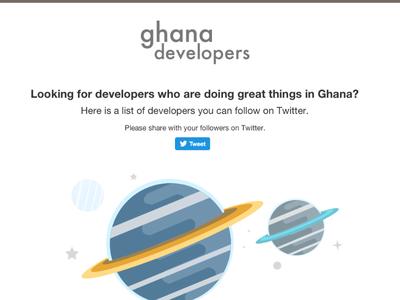 Ghana Developers Thank You peeling pixels web site social ghana
