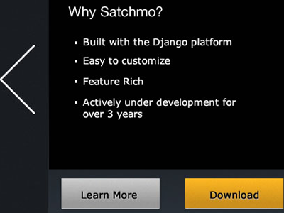 Satchmo New Website ui new django