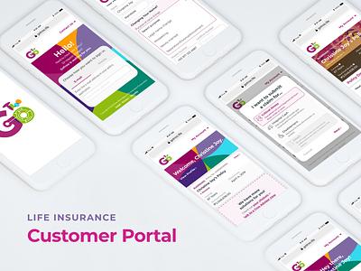 GoTroo: Life Insurance Customer Portal insurance portal customer portal portal interface ux colorful webapp policy life insurance insurance web