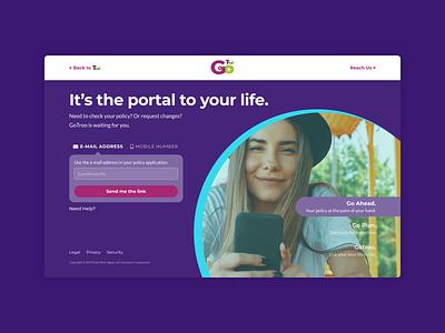 Portal Login life insurance figma ui purple troo insurance customer portal portal login webapp web