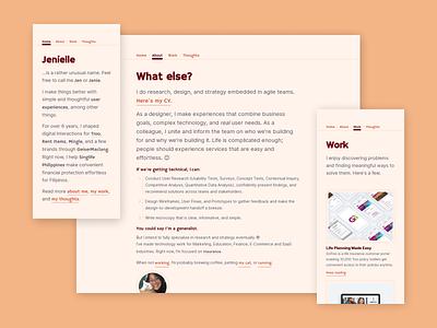 jenielle.design jenielle ux designer portfolio site webflow user interface ui website personal