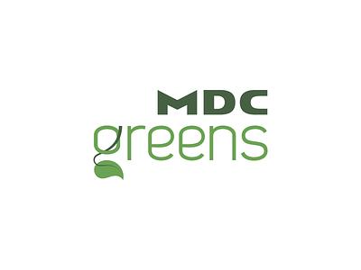 MDC Greens identity tree branding mdc nature landscaping leaf logo green
