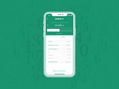 Daily UI 004: Calculator 🧮 calculator taxes green design challenge interface daily ui