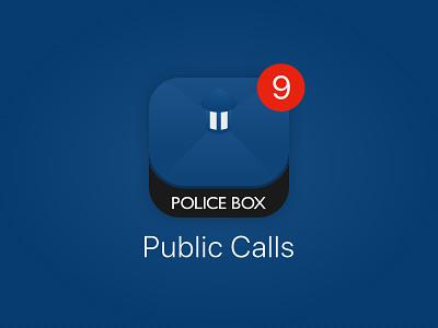 Daily UI 005: App Icon ios sci-fi blue police box tardis doctor who app icon illustration branding design challenge daily ui