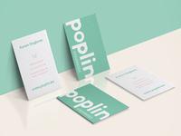 Poplin business cards