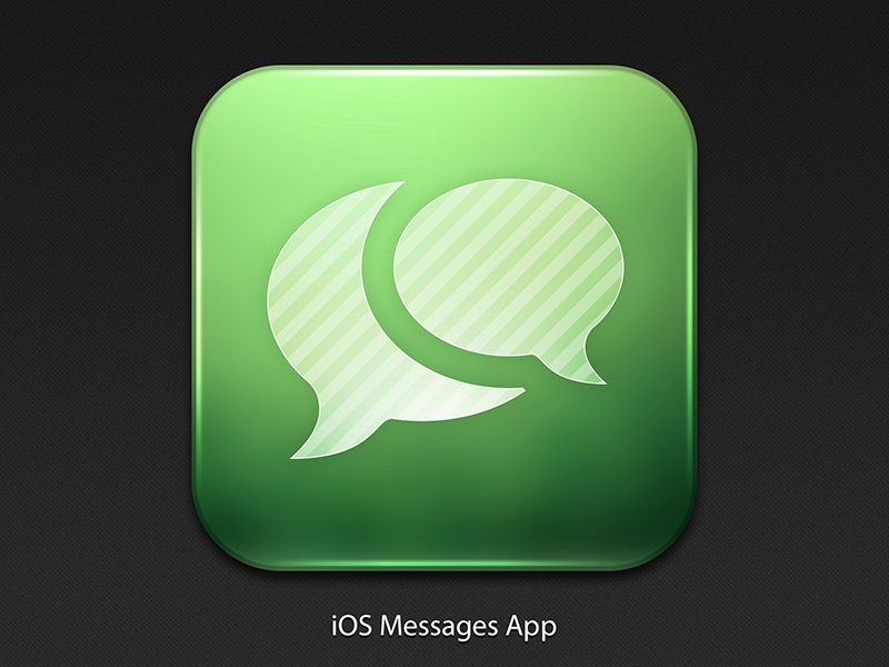 iOS Messages Icon ios ui iphone interface user interface app icon