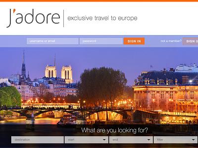J'adore web design ui portfolio website tourism responsive