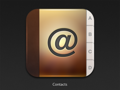 Contacts Icon ios ui iphone interface user interface app icon contacts