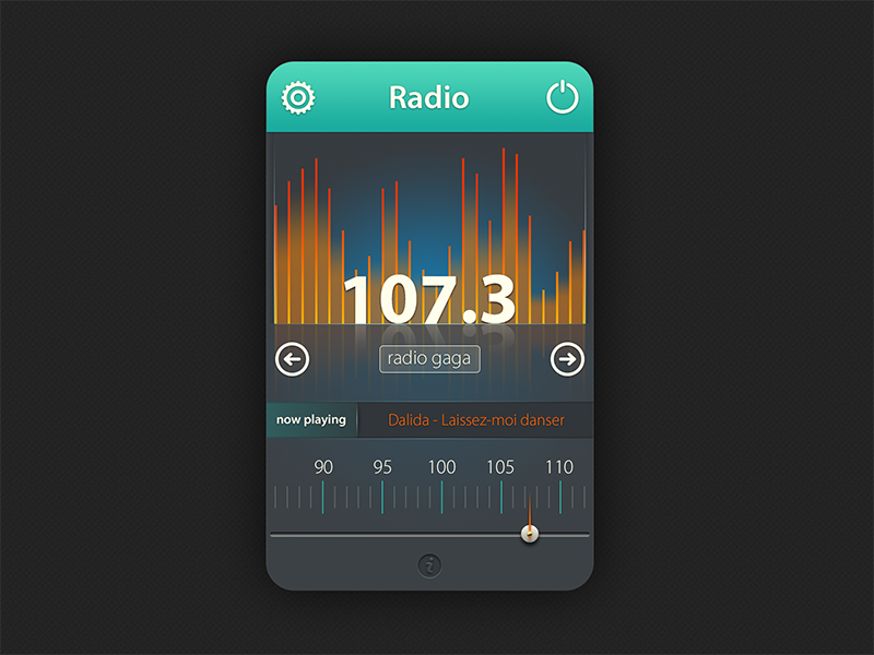Radio Widget ui user interface widget ux radio fm