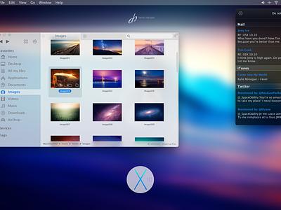 OSX 10.10 osx ui ux flat design design apple