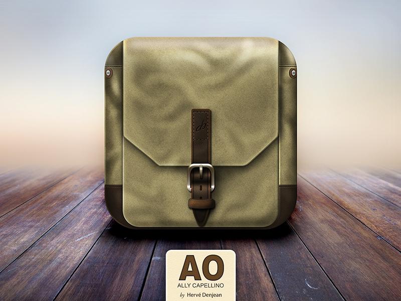 Ally Capellino Bag Icon iphone apple app design ios ui icon