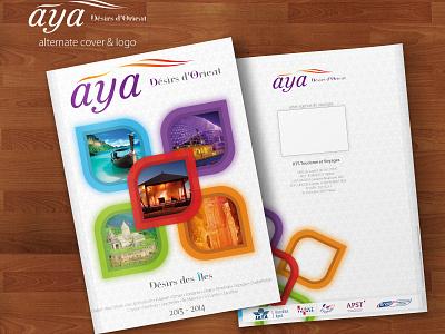 Aya: alternate cover & logo cover branding indesign graphic design travel brochure print