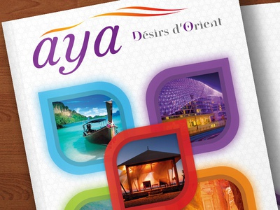 Aya: alternate cover & logo cover branding indesign graphic design travel brochure print
