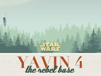 Yavin 4 poster yavin sunday funday illustration starwars poster