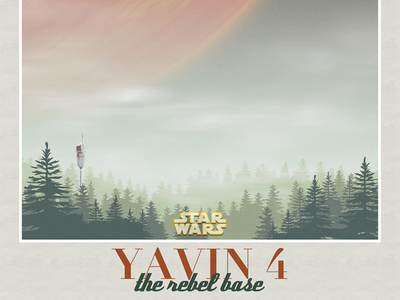 Yavin 4 #2 yavin sunday funday illustration starwars poster