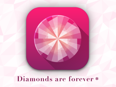 Diamonds Are Forever 007 vector illustrator geometric diamonds ios icon