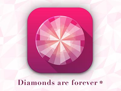 Diamonds Are Forever 007 vector illustrator geometric diamonds ios icon