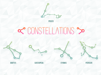 Constellations star constellation vector illustrator web osx ios icon