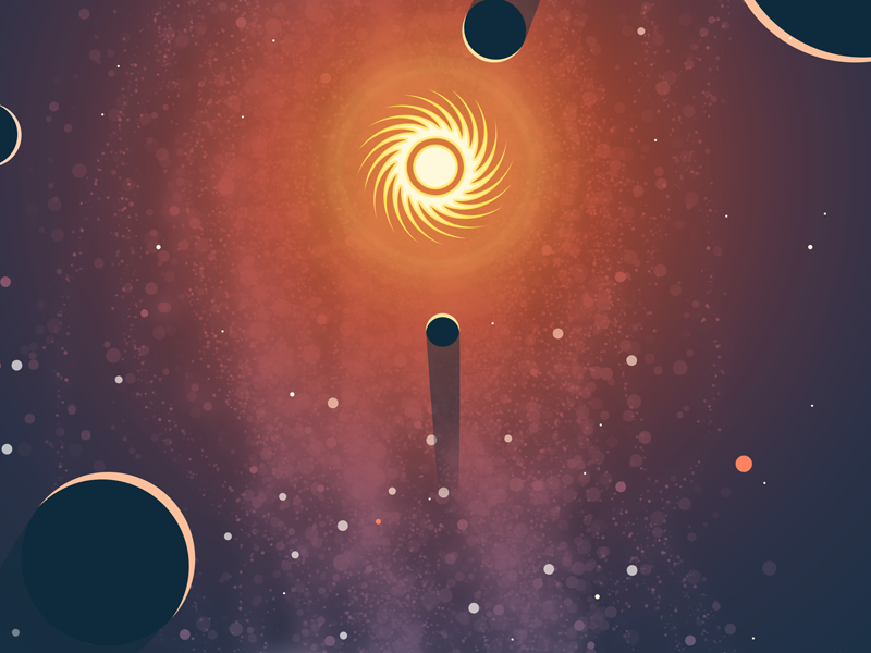 The Great Expansion poster photoshop illustrator solar system stars milky way sunday funday illustration poster