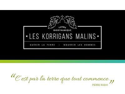 Les Korrigans Malins visual design responsive brand identity logo web