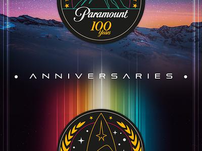 Anniversaries startrek sticker pictogram funday logo